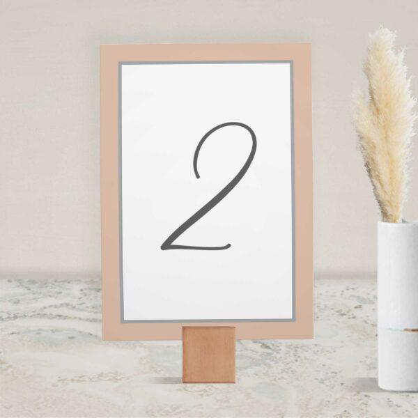 Numer na stół ślubny z kolekcji Baśniowa szarość firmy Cartolina - zaproszenia ślubne