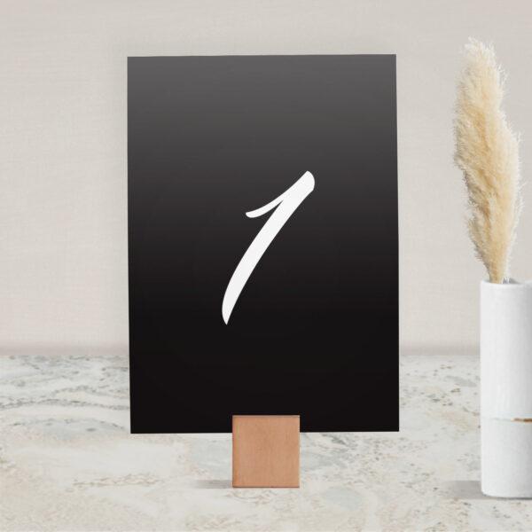 Numer na stół ślubny z kolekcji Czarne złoto firmy Cartolina - zaproszenia ślubne