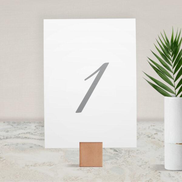 Numer na stół ślubny z kolekcji Złoty brokat firmy Cartolina - zaproszenia ślubne