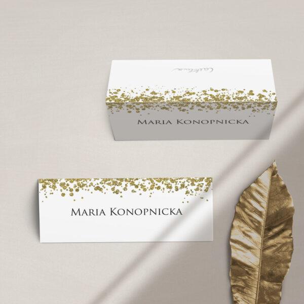 Winietki na stół z kolekcji Confetti firmy Cartolina - zaproszenia ślubne