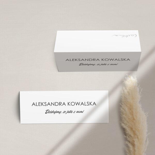 Winietka na stół z kolekcji Czarne złoto firmy Cartolina - zaproszenia ślubne