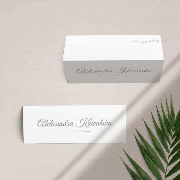 Winietka na stół z kolekcji Złoty brokat firmy Cartolina - zaproszenia ślubne