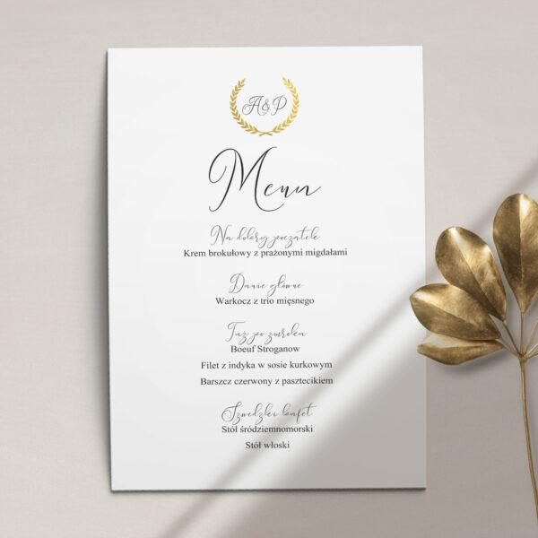 ślubne z kolekcji Złoty monogram firmy Cartolina - zaproszenia ślubne