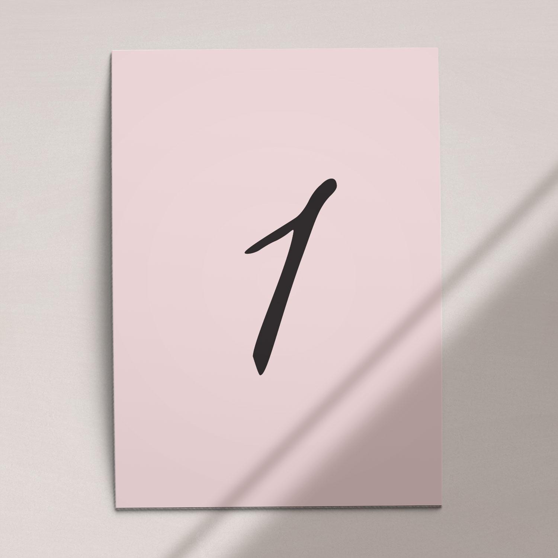 Numer na stół ślubny z kolekcji Słodkie złoto firmy Cartolina - zaproszenia ślubne
