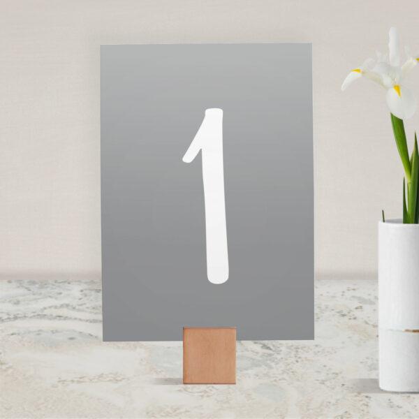 Numer na stół ślubny z kolekcji Złote love firmy Cartolina - zaproszenia ślubne