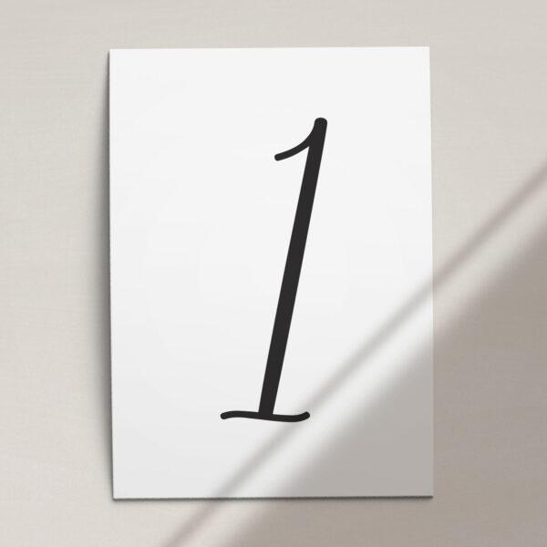 Numer na stół ślubny z kolekcji Złoty monogram firmy Cartolina - zaproszenia ślubne