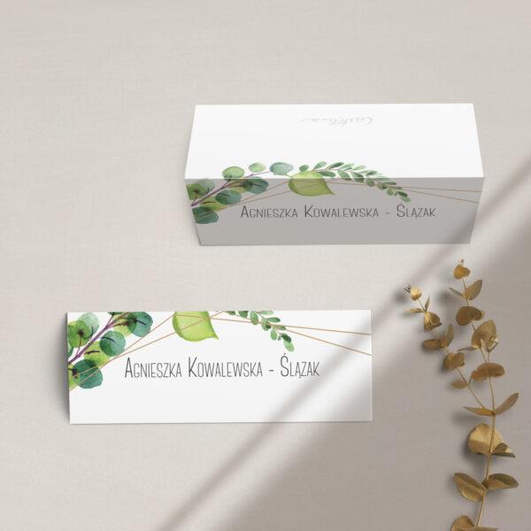 Winietki na stół z kolekcji Botaniczne geometryczne firmy Cartolina - zaproszenia ślubne