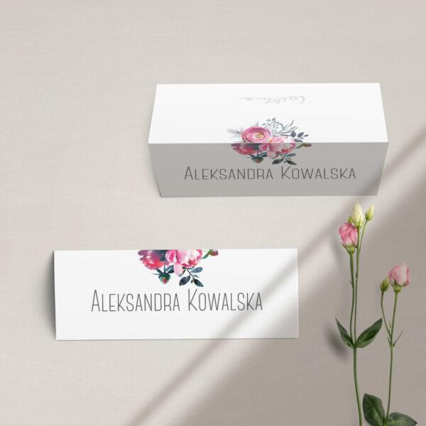 Winietki na stół z kolekcji Fuksja firmy Cartolina - zaproszenia ślubne