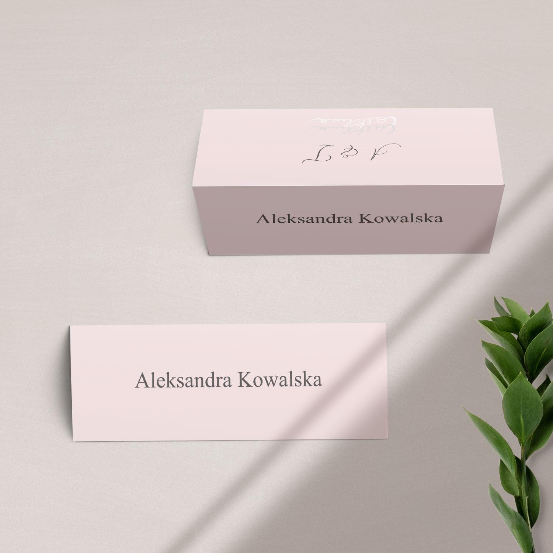 Winietka na stół z kolekcji Słodkie złoto firmy Cartolina - zaproszenia ślubne