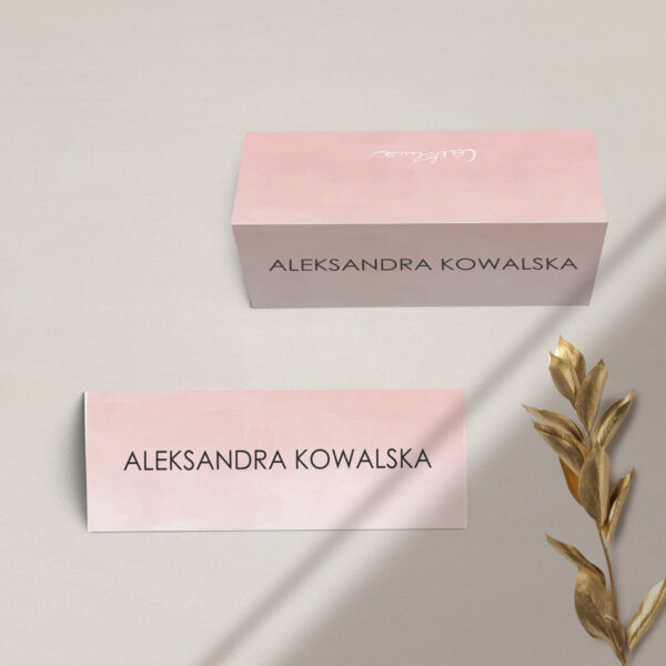 Winietka na stół z kolekcji Złota treść i confetti firmy Cartolina - zaproszenia ślubne