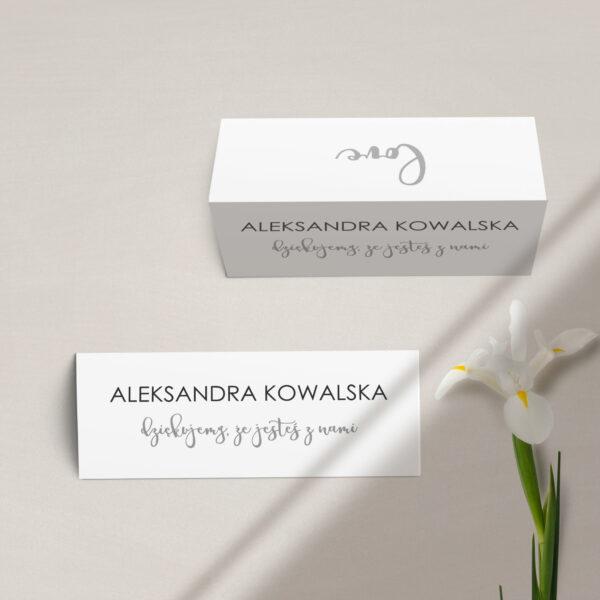 Winietka na stół z kolekcji Złote love firmy Cartolina - zaproszenia ślubne