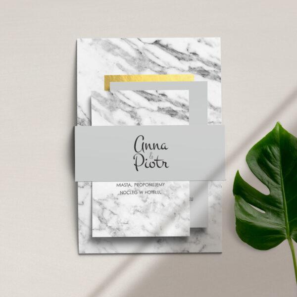 zaproszenia ślubne z kolekcji Marmur i złoto firmy Cartolina - zaproszenia ślubne