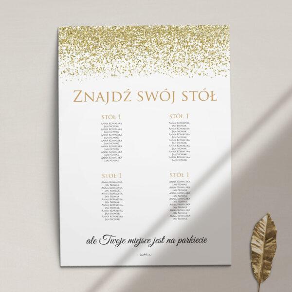 Plan stołów z kolekcji Confetti firmy Cartolina - zaproszenia ślubne