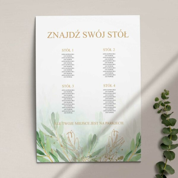 Plan stołów z kolekcji Rustykalne oliwki firmy Cartolina - zaproszenia ślubne