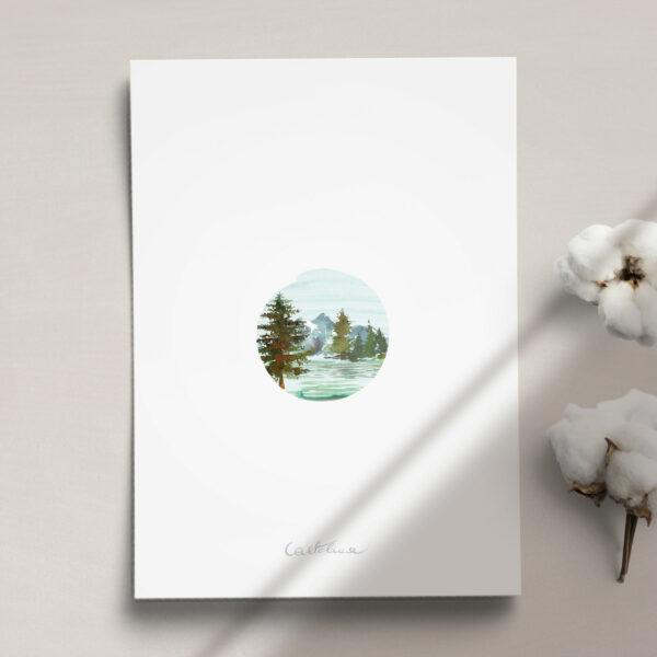 Druga strona Menu ślubne z kolekcji Górskie jezioro firmy Cartolina - zaproszenia ślubne