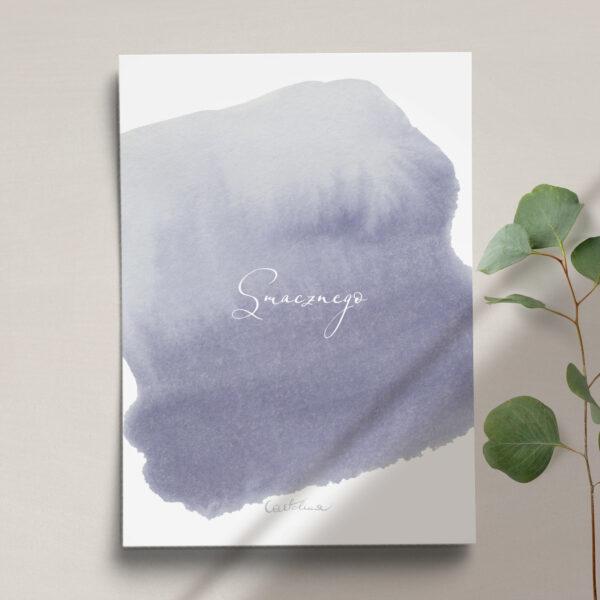 Druga strona Menu ślubne z kolekcji Wiosenna mgłą firmy Cartolina - zaproszenia ślubne