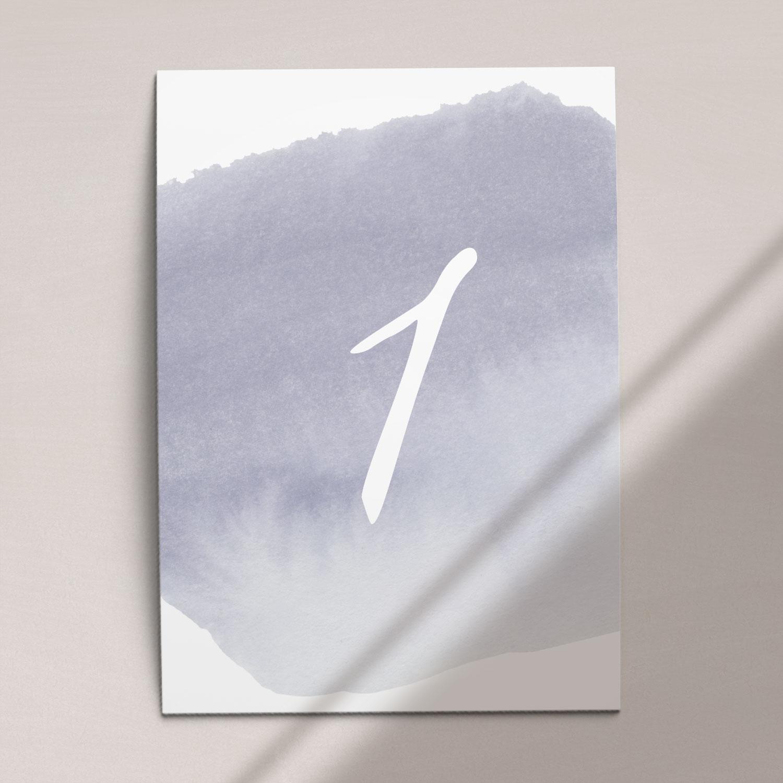 Numer na stół ślubny z kolekcji Wiosenna mgła firmy Cartolina - zaproszenia ślubne