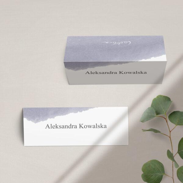 Winietki na stół z kolekcji Wiosenna mgła firmy Cartolina - zaproszenia ślubne