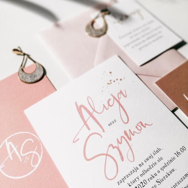 nowoczesne zaproszenia ślubne gwiezdny pył