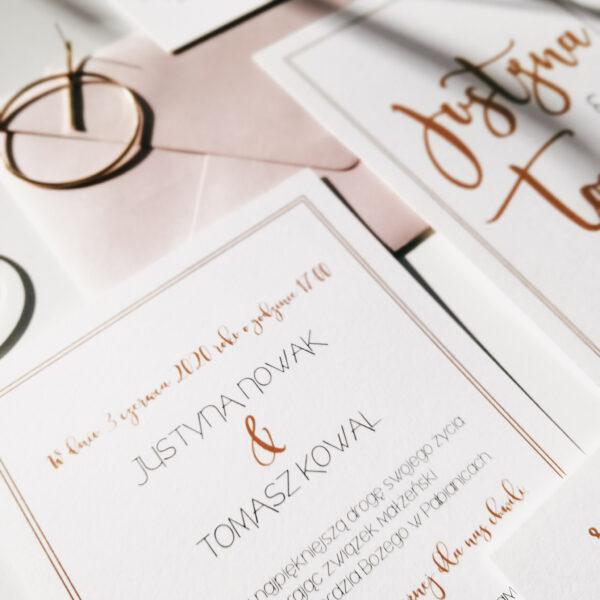 eleganckie zaproszenia ślubne biały sen